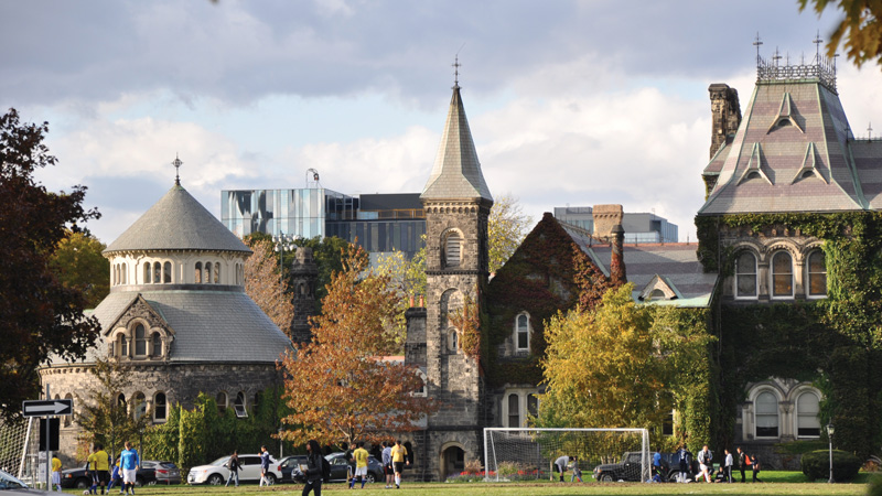 Photo of the UofT Campus showing University College