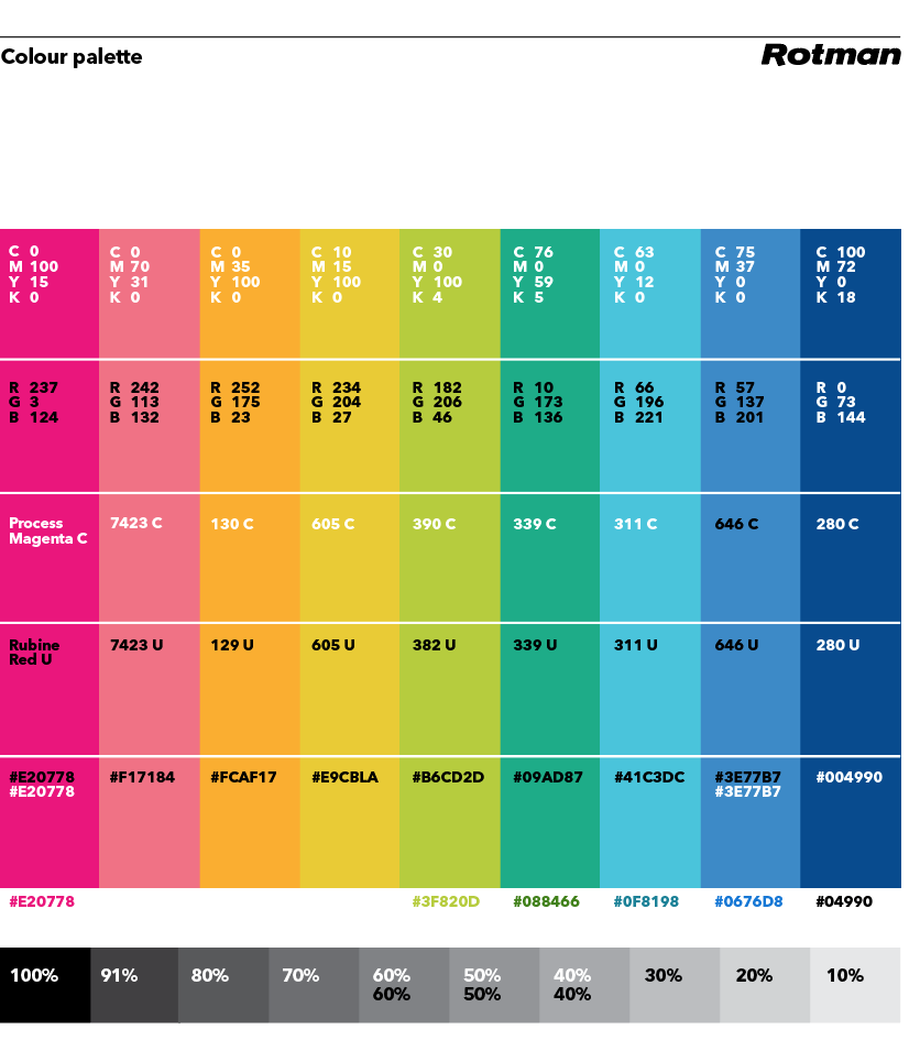 Rotman Colour Palette