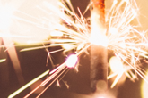 Abstract photo of a sparkler
