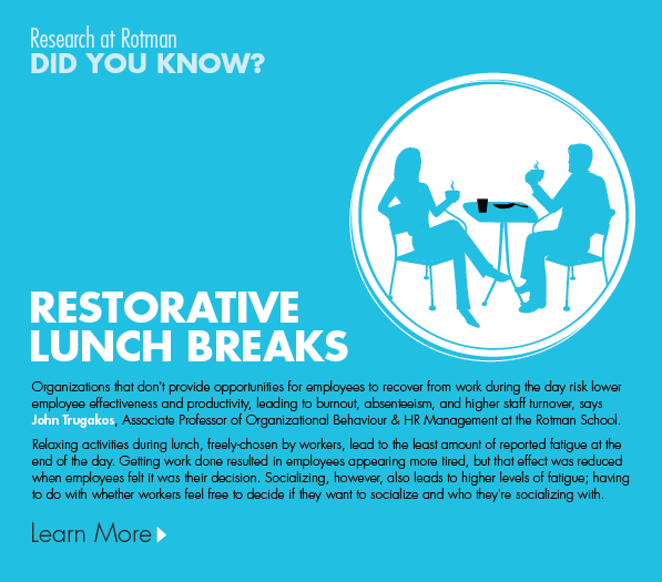 Take a Restorative Lunch Break