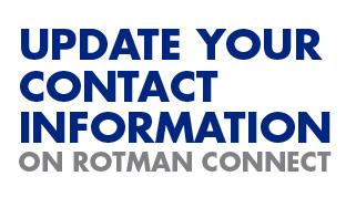Update your contact information on Rotman connect
