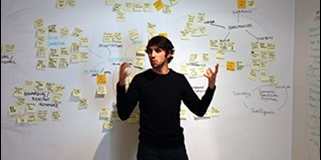 Guy with post-it notes