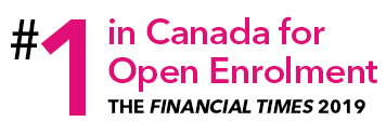 #1 in Canada for Open Enrolment - Financial Times 2019