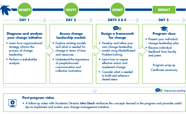 Leading Strategic Change, Five Days