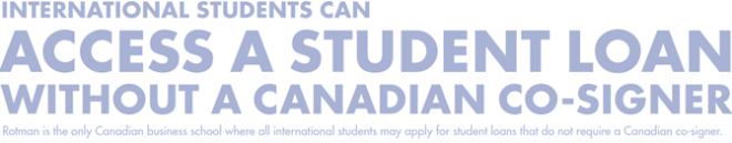 International students can access a student loan