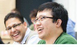Rotman Full-Time MBA students laughing