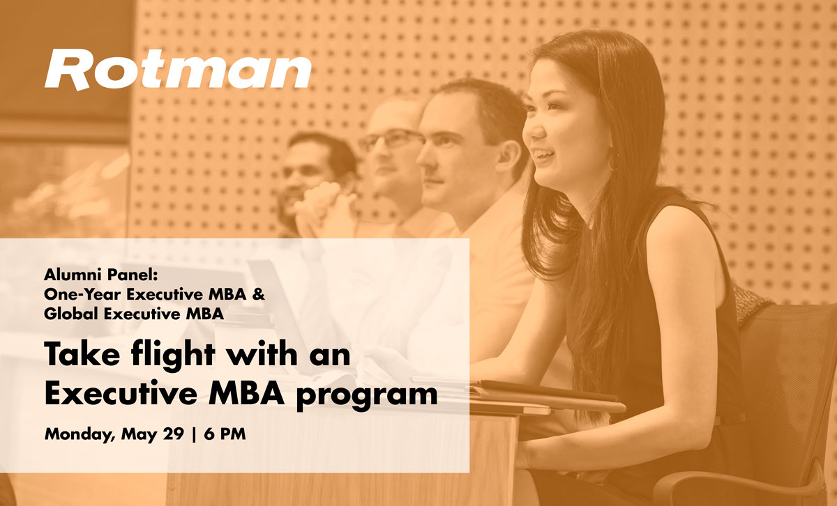 Alumni Panel: Take Flight with an Executive MBA | May 29