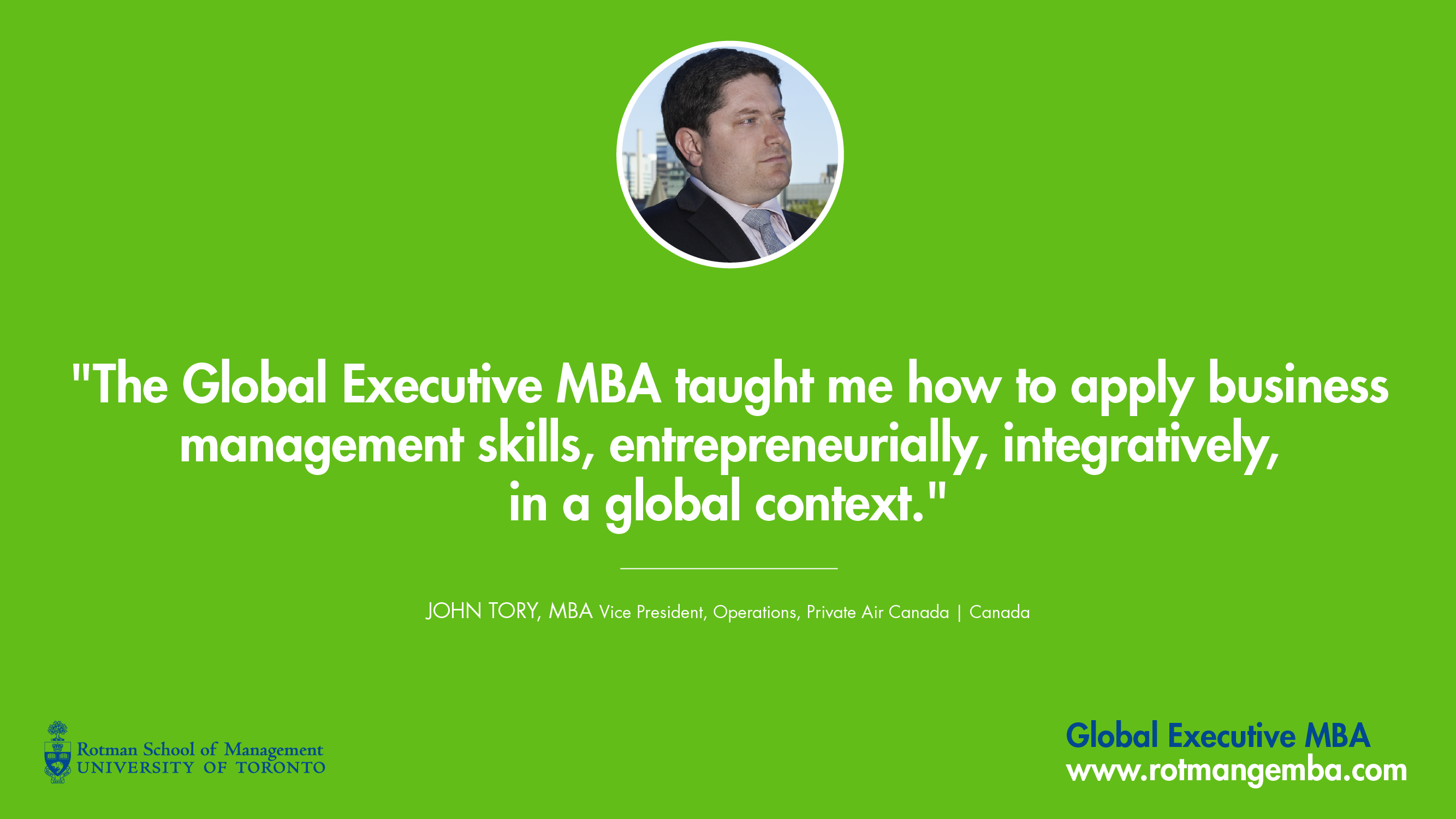 Global Executive Mba Emba Rotman School Of Management