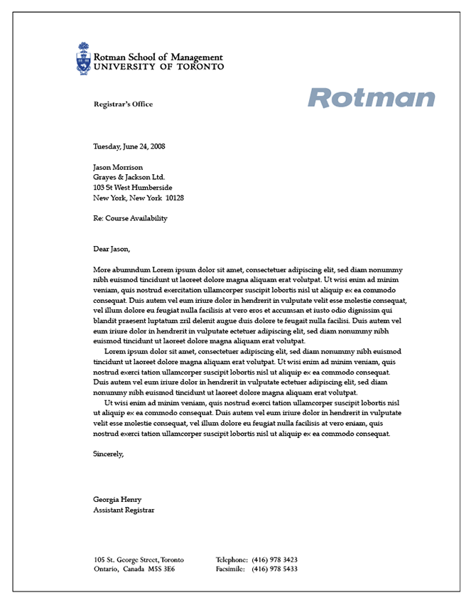 rotman school of business essays