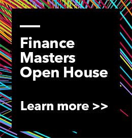 Finance Masters Open House, Learn more graphic