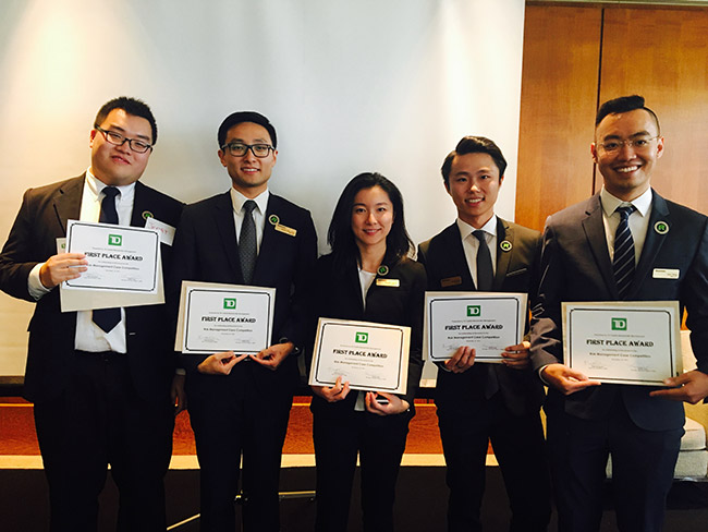 Image of winning TD Case Competition Team