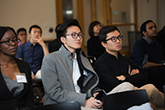 Photo: Students attend an admission event
