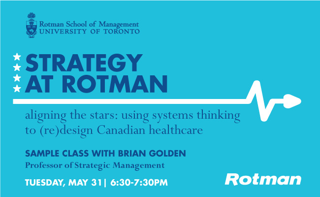 Healthcare Strategy Sample Class at Rotman - May 31, 2016