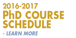 2016-2017 PhD Course Schedule