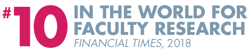 #10 in the world for faculty research - Financial Times, 2018