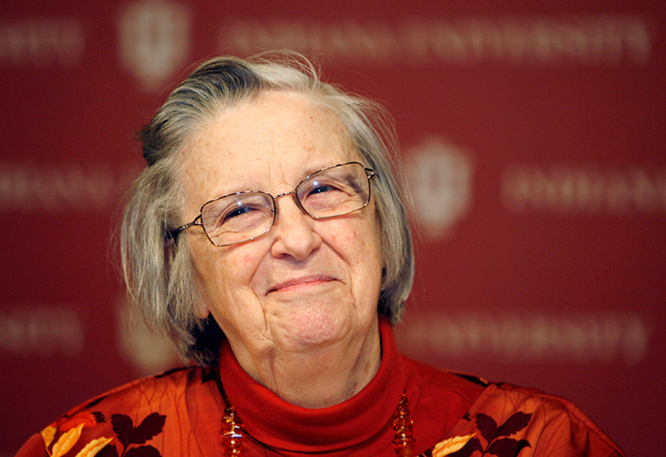 Elinor Ostrom<br>Nobel Laureate in Economic Sciences and former Indiana University Professor