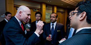 Full-time MBA Students during a networking event at the Rotman School, University of Toronto, Canada