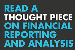 Thought piece - Financial reporting