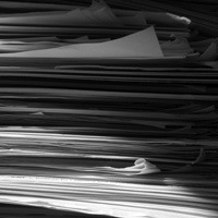Placeholder image of a stack of papers